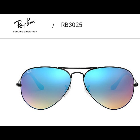 94849ad5d Ray-Ban Accessories   Rayban Aviators Black With Gradient Mirror ...